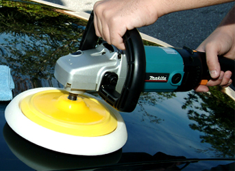 Circular polisher with 7 inch backing plate