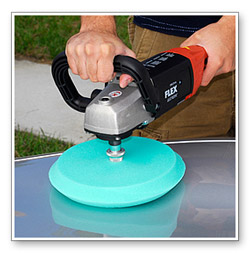 The Edge 2000 Green Pad is a medium cutting foam pad for moderate swirl removal.
