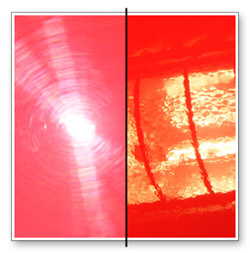 This image shows a red BMW before Wolfgang Total Swirl Remover 3.0 and after.